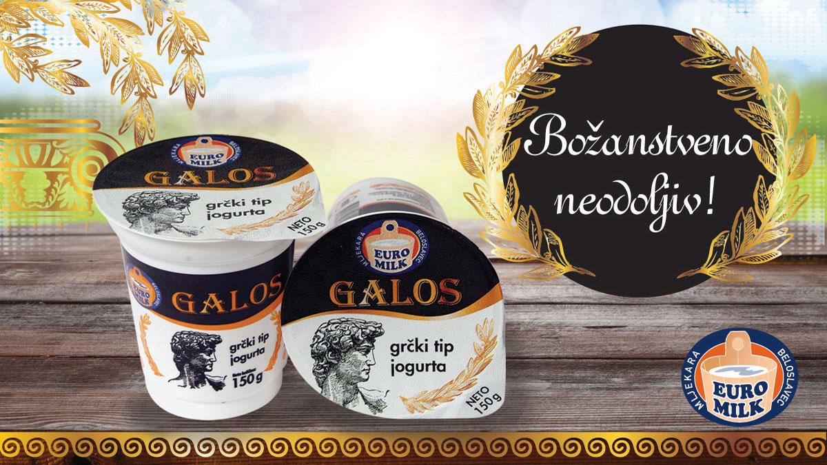 EURO-MILK Galos grčki tip jogurta